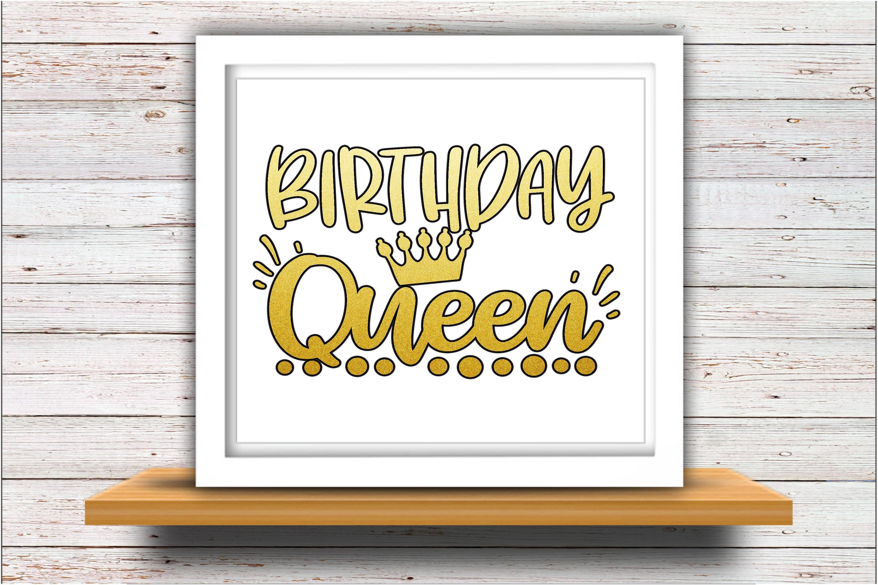 Birthday SVG DXF JPEG Silhouette Cameo Cricut Queen Crown example image 2