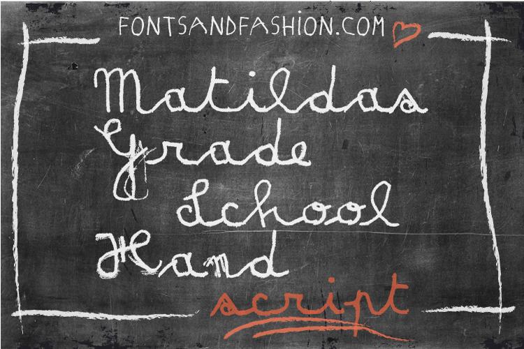Matildas Grade School Hand_Script example image 2