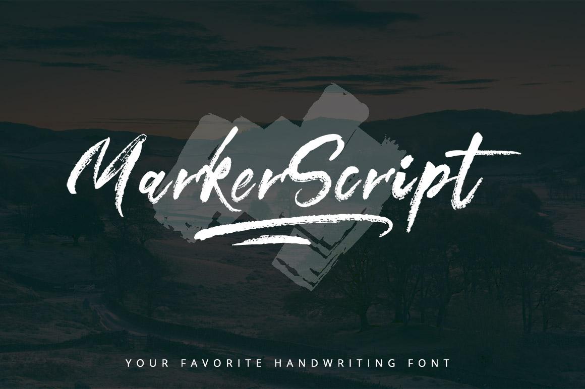 MarkerScript Font example image 1