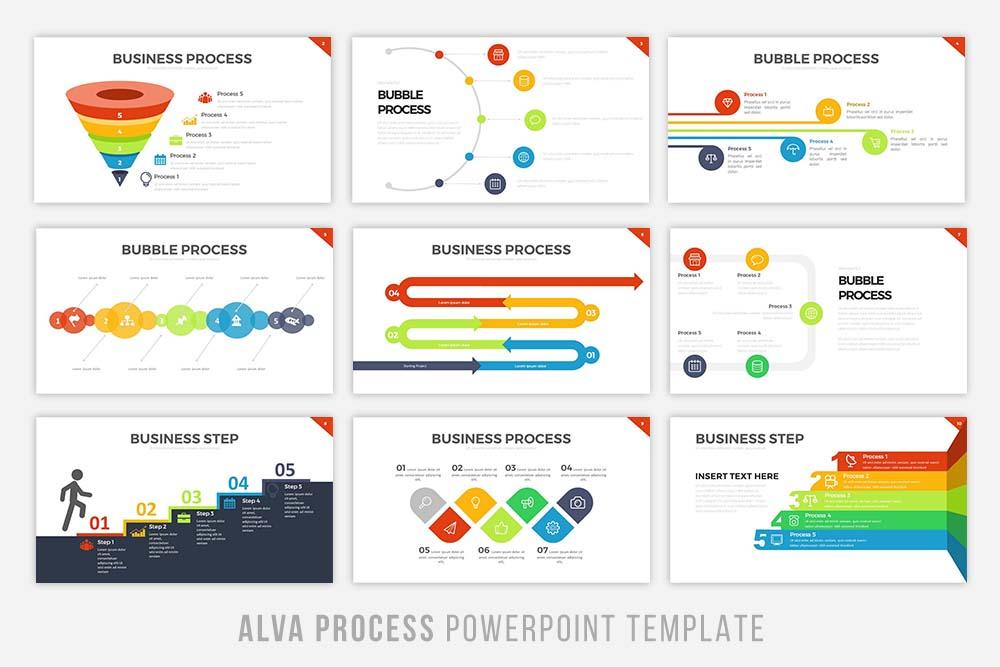 Alva Process Powerpoint Template example image 4