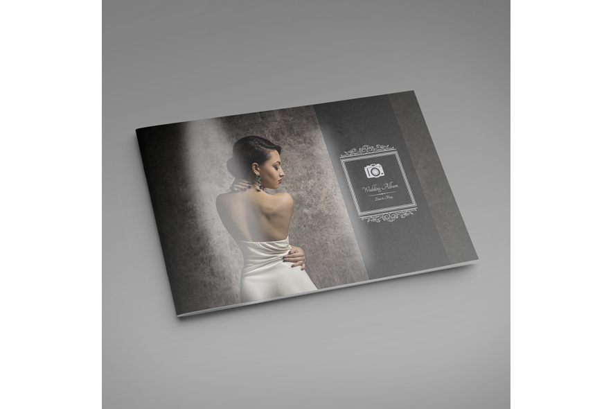 Wedding album Template A4 Landscape example image 3