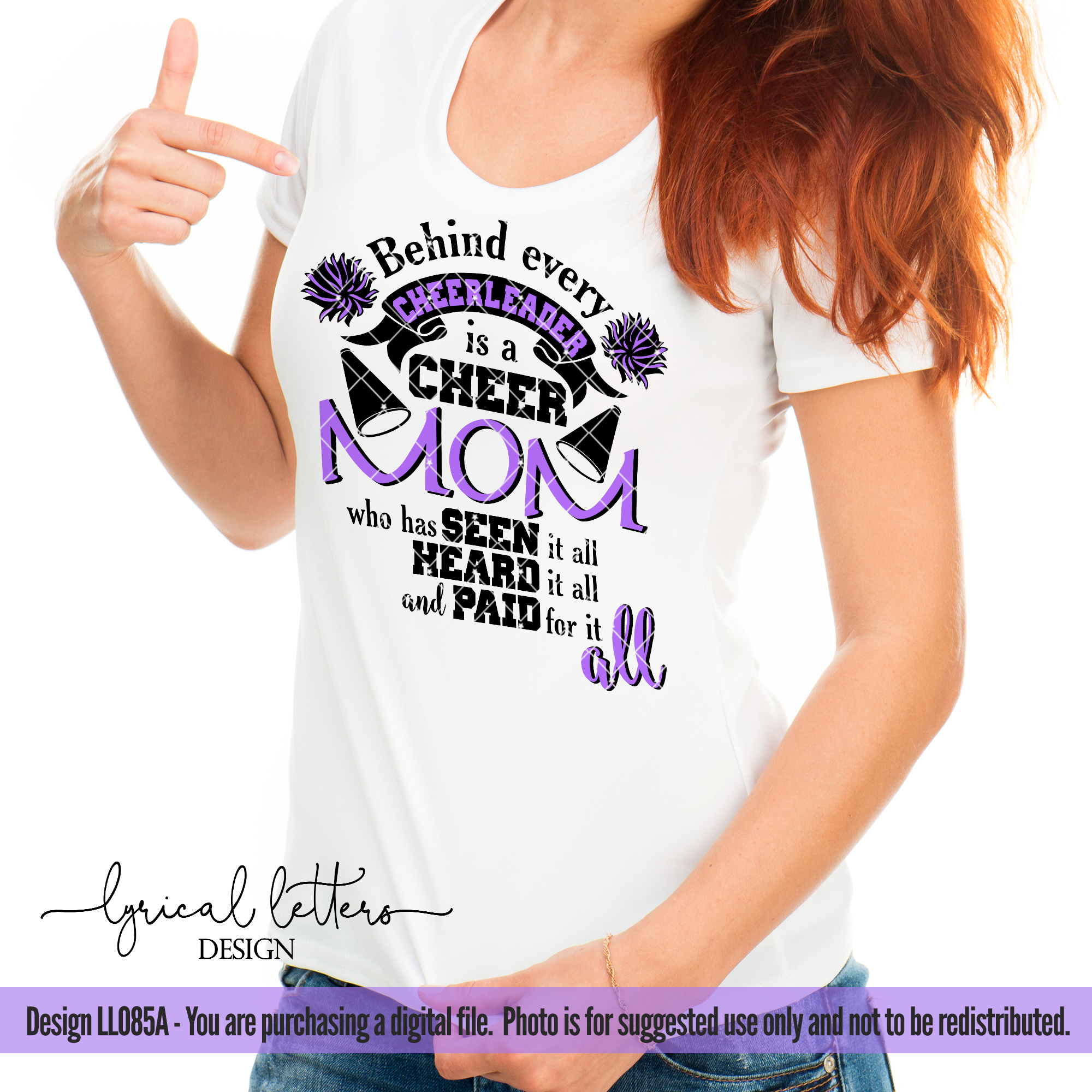 Cheer Mom Cheerleader SVG DXF Cut File LL085A example image 2