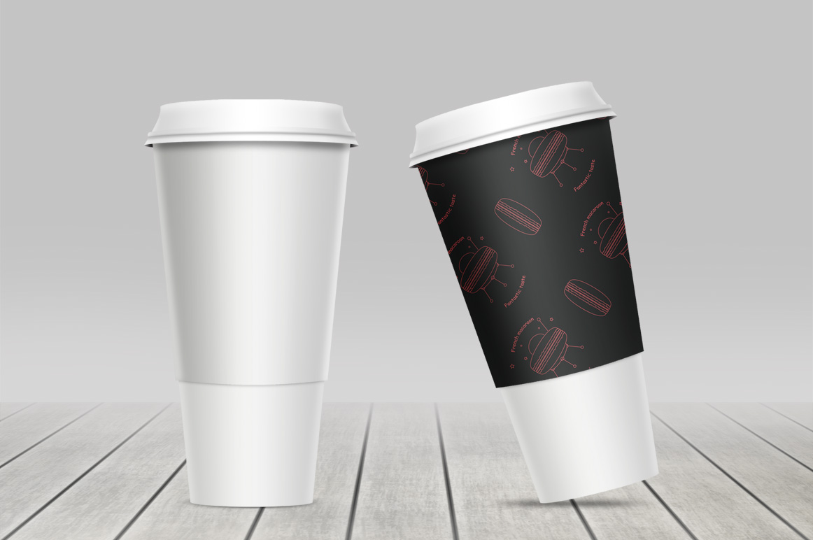 Coffe cup mockup. Package mockup. example image 3
