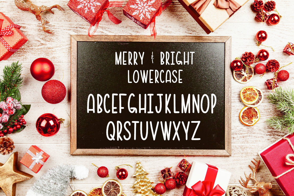 Merry & Bright All Caps Font example image 4