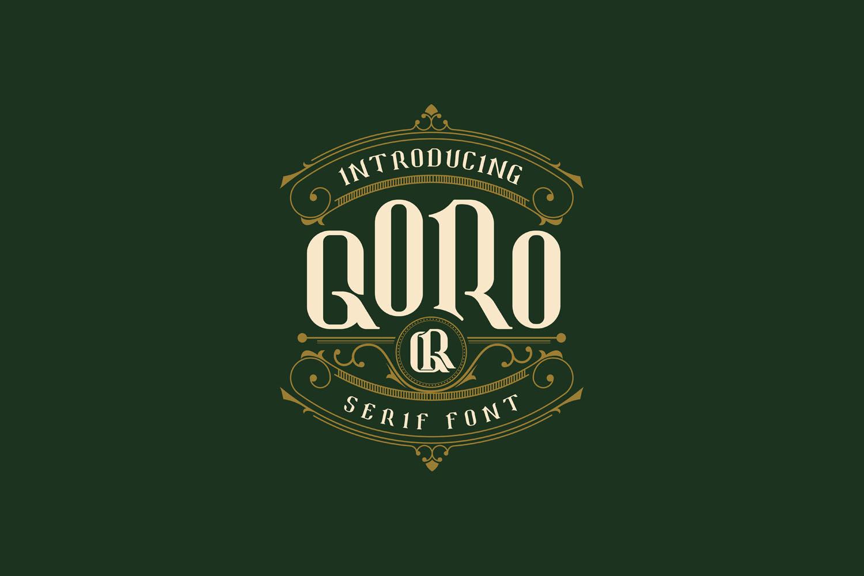Qoro - Vintage Serif Font example image 2