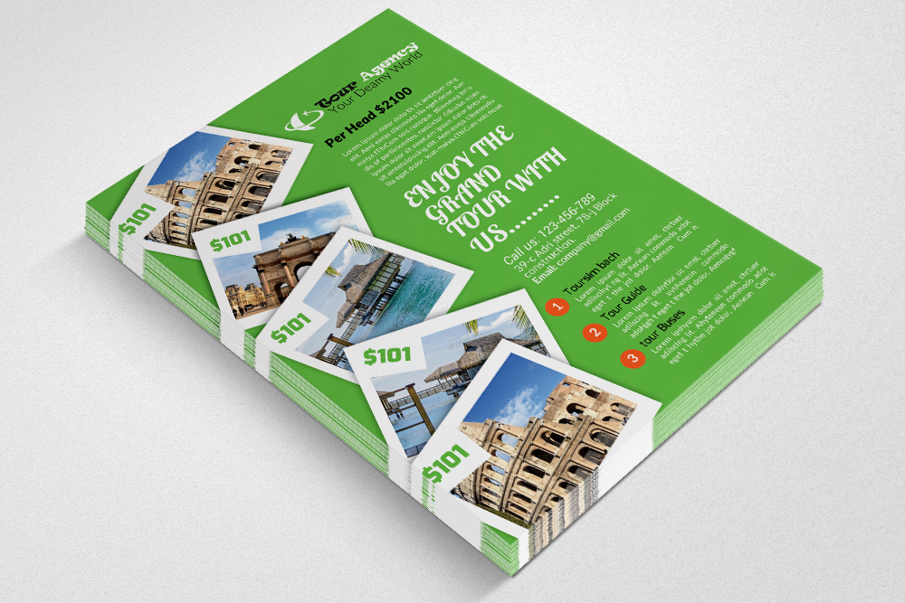 Tour & Travel Flyer Psd example image 2