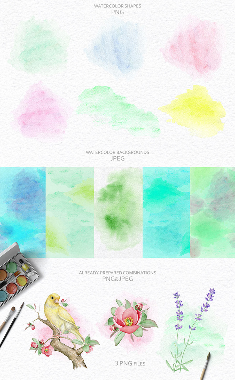 15%OFF. Watercolor Floral Collection example image 16