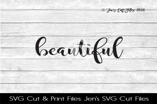 Beautiful SVG Cut File example image 1