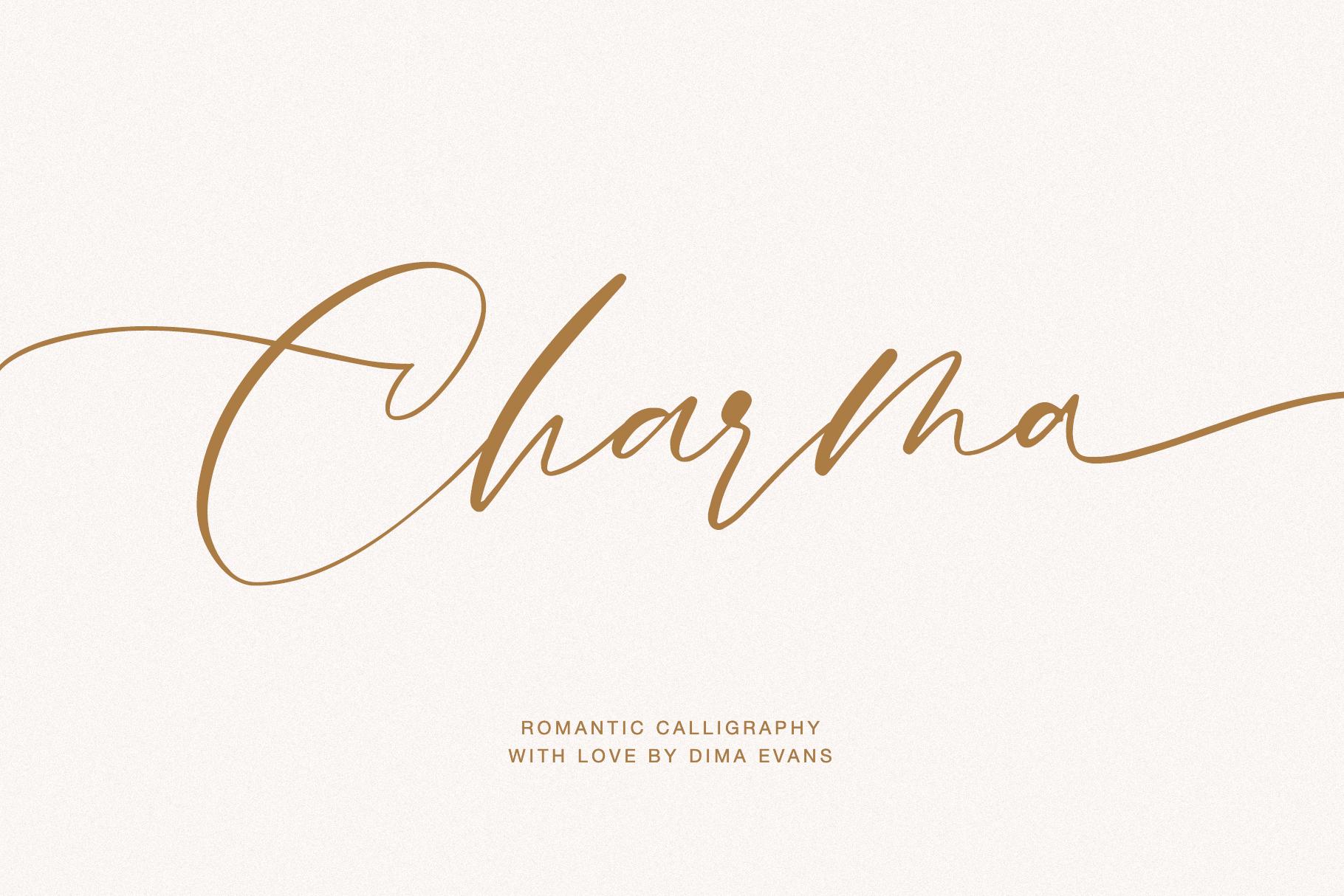 Charma // Romantic Script example image 10