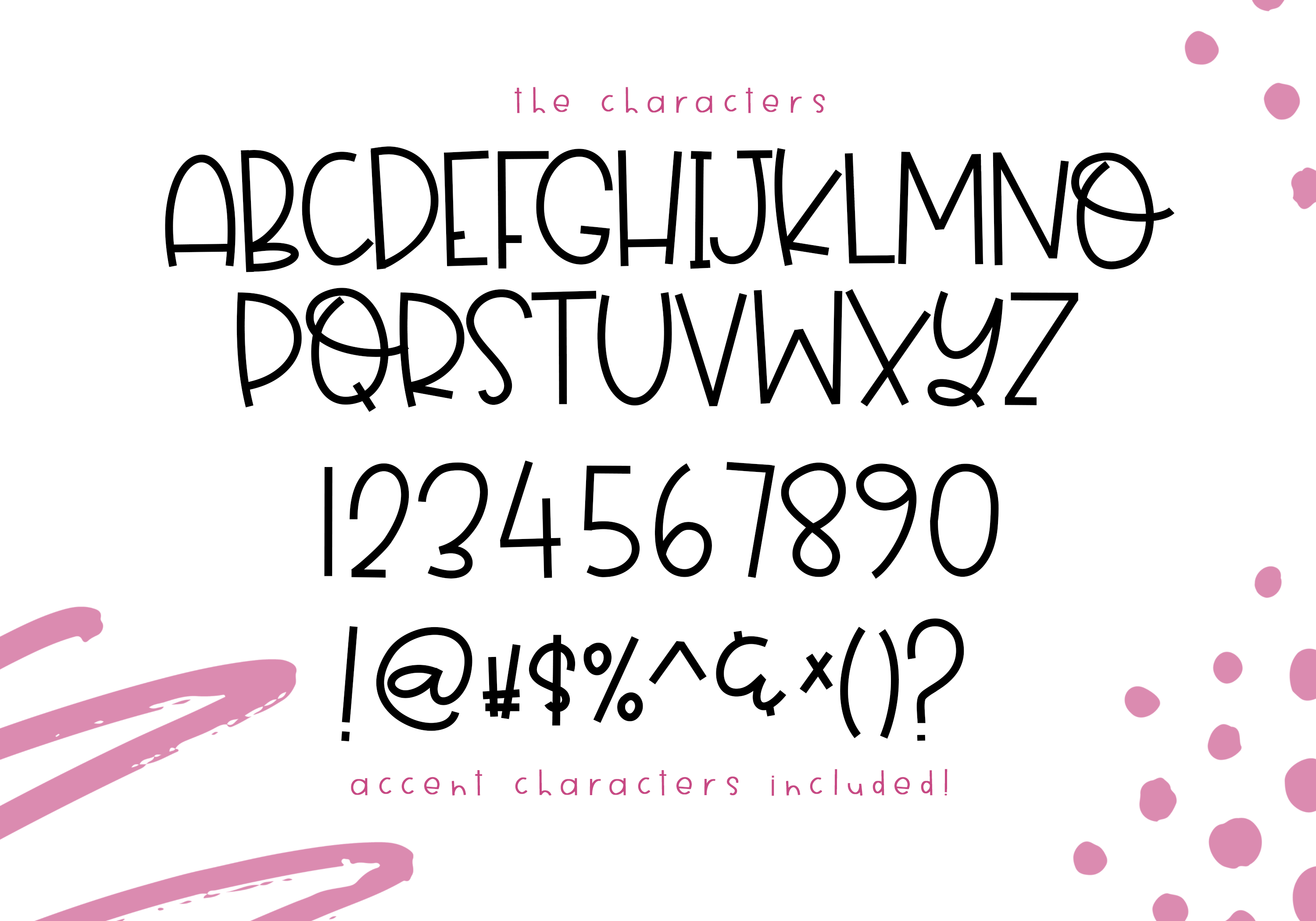 Sprinkled Donut - A Handwritten Font example image 11