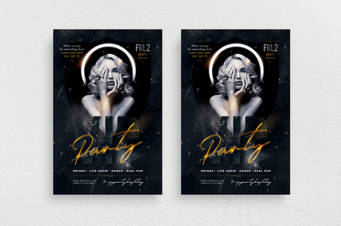 Vip Party Flyer Template example image 1