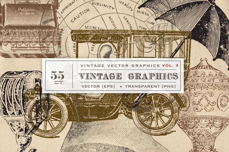 Vintage Vector Graphics Vol. 3 example image 1