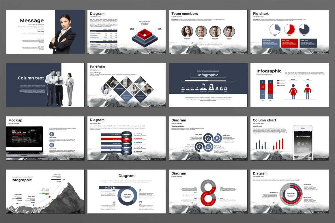 Mountain Powerpoint Template example image 3