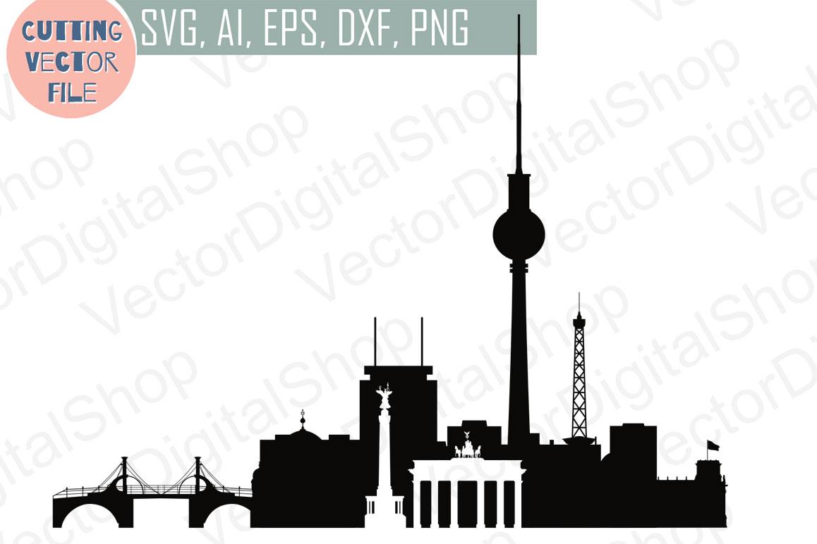 Berlin Skyline Vector, Germany SVG, JPG, PNG, DWG, CDR, EPS, AI example image 1