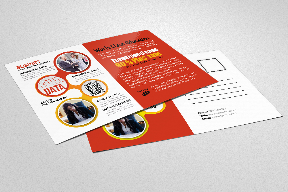 Business Postcards print Template example image 3
