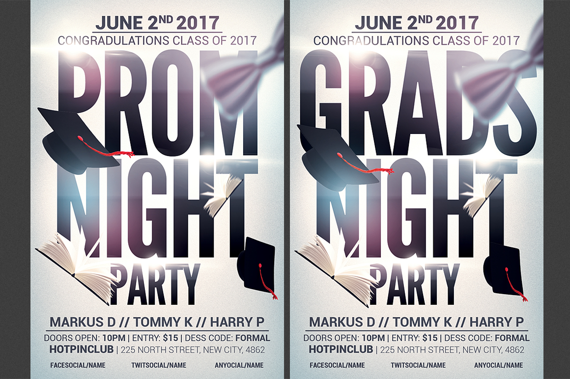 Prom-Graduation Party Flyer example image 1