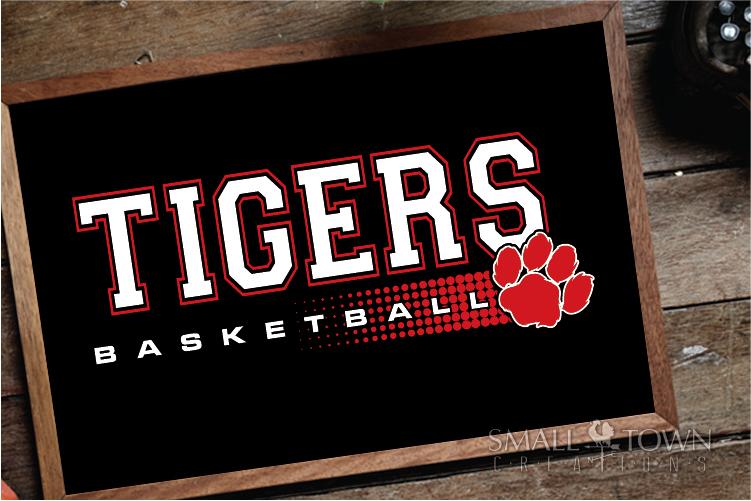 Tigers basketball, tiger mascot, team, PRINT, CUT, DESIGN example image 19