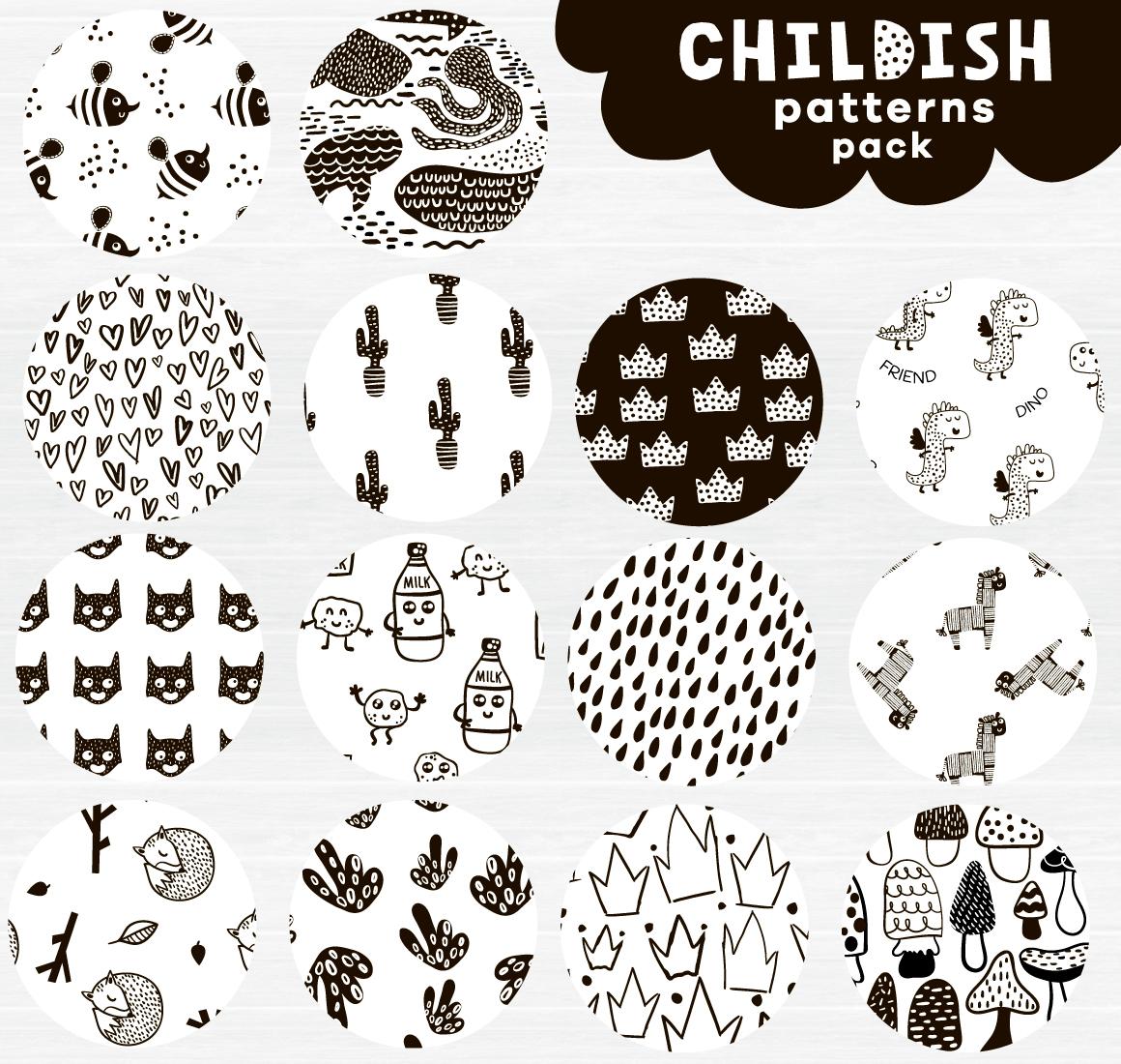 Childish patterns pack example image 3