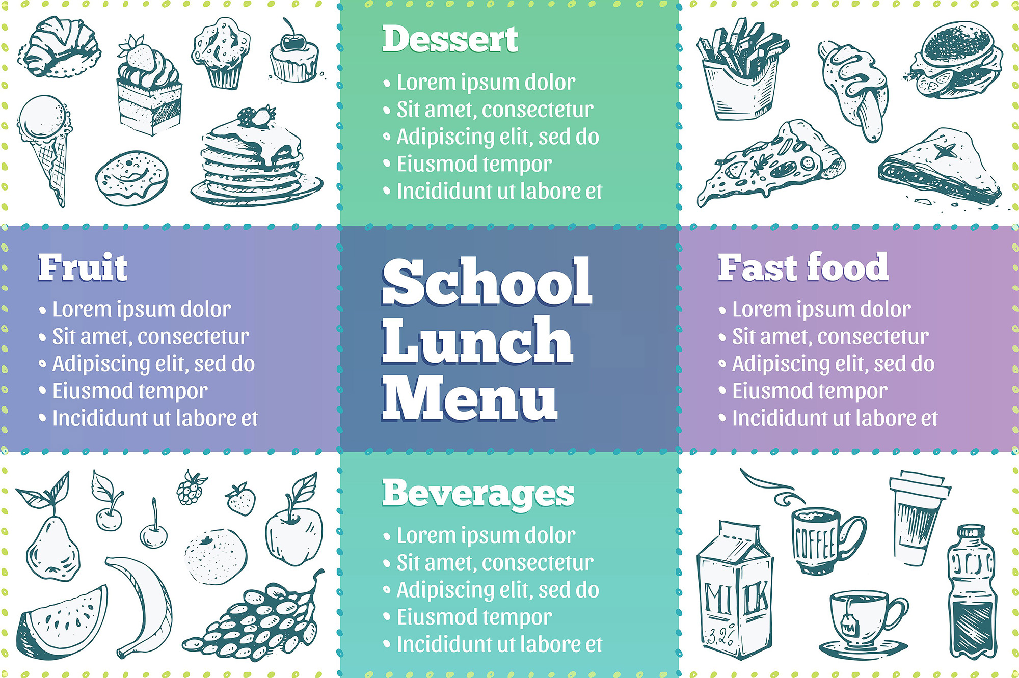 Hand drawn cooking and food icons example image 26