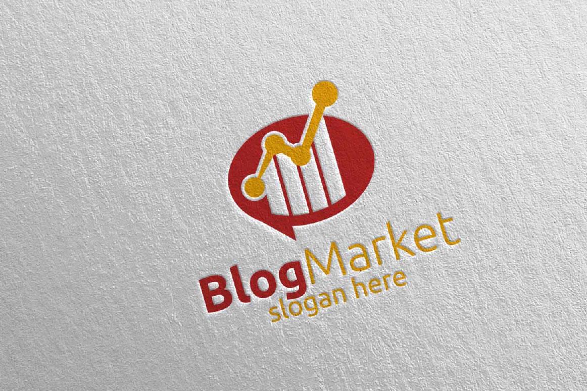 Blog Marketing Financial Advisor Logo Design Template 15 example image 2
