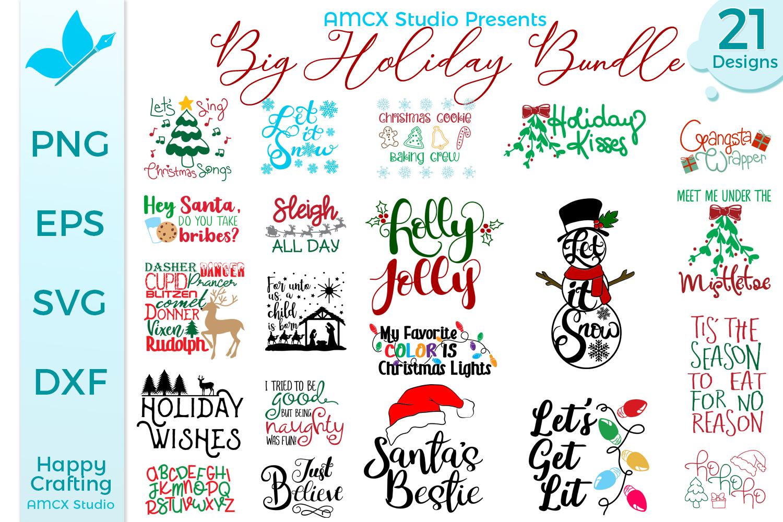 Big Holiday Bundle - 21 Christmas Themed Designs example image 1