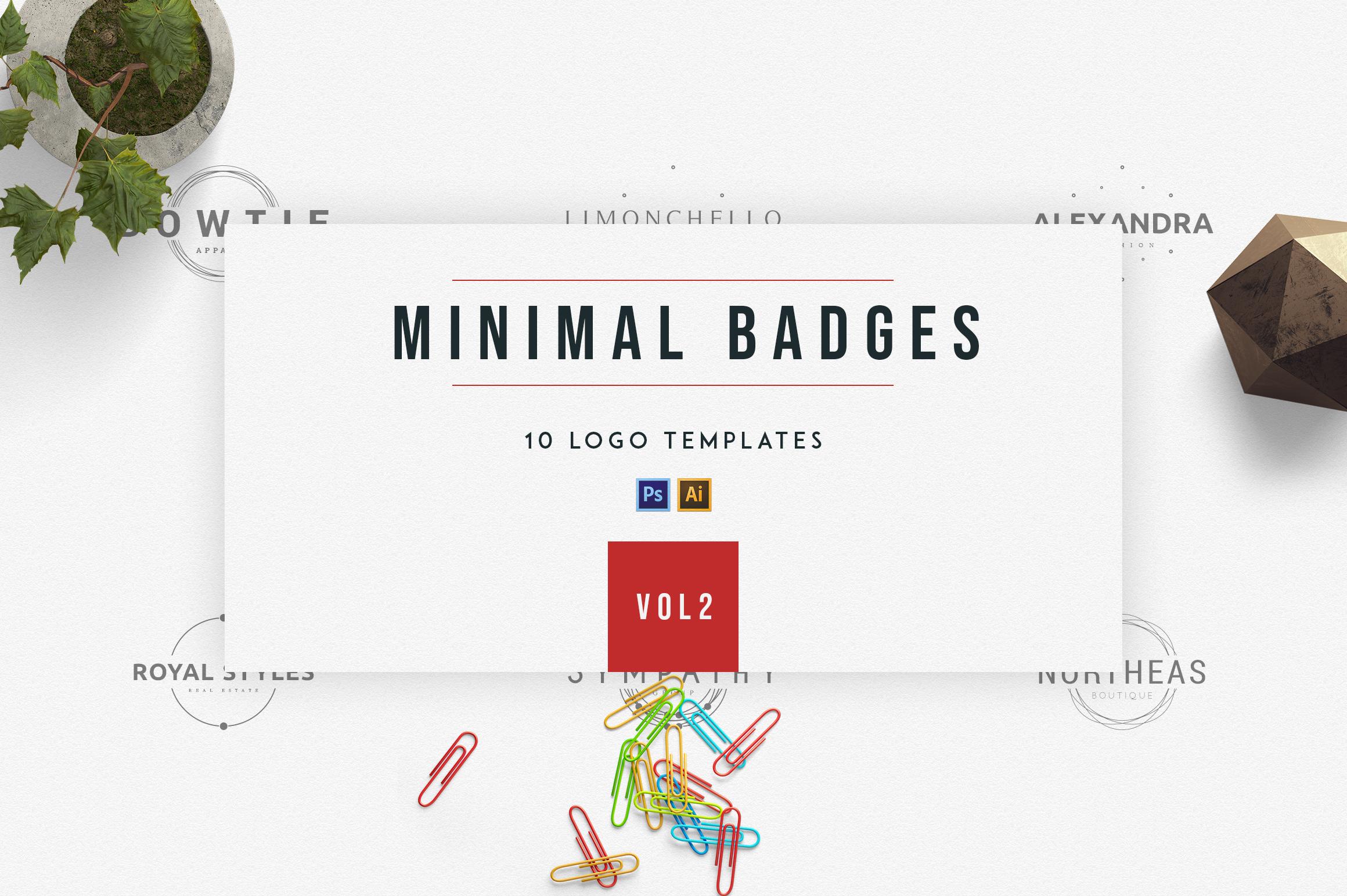 Minimal Badges | vol.2 example image 1