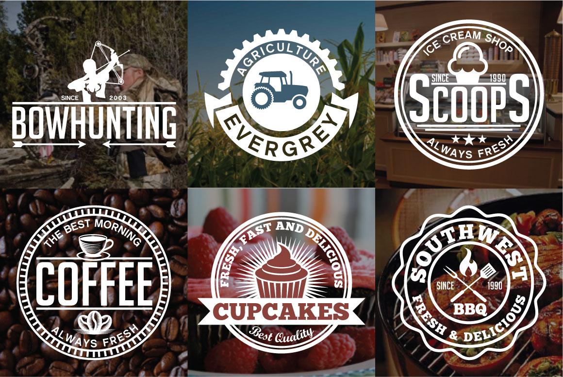60 Vintage Bundle Logos Labels & Badges example image 5