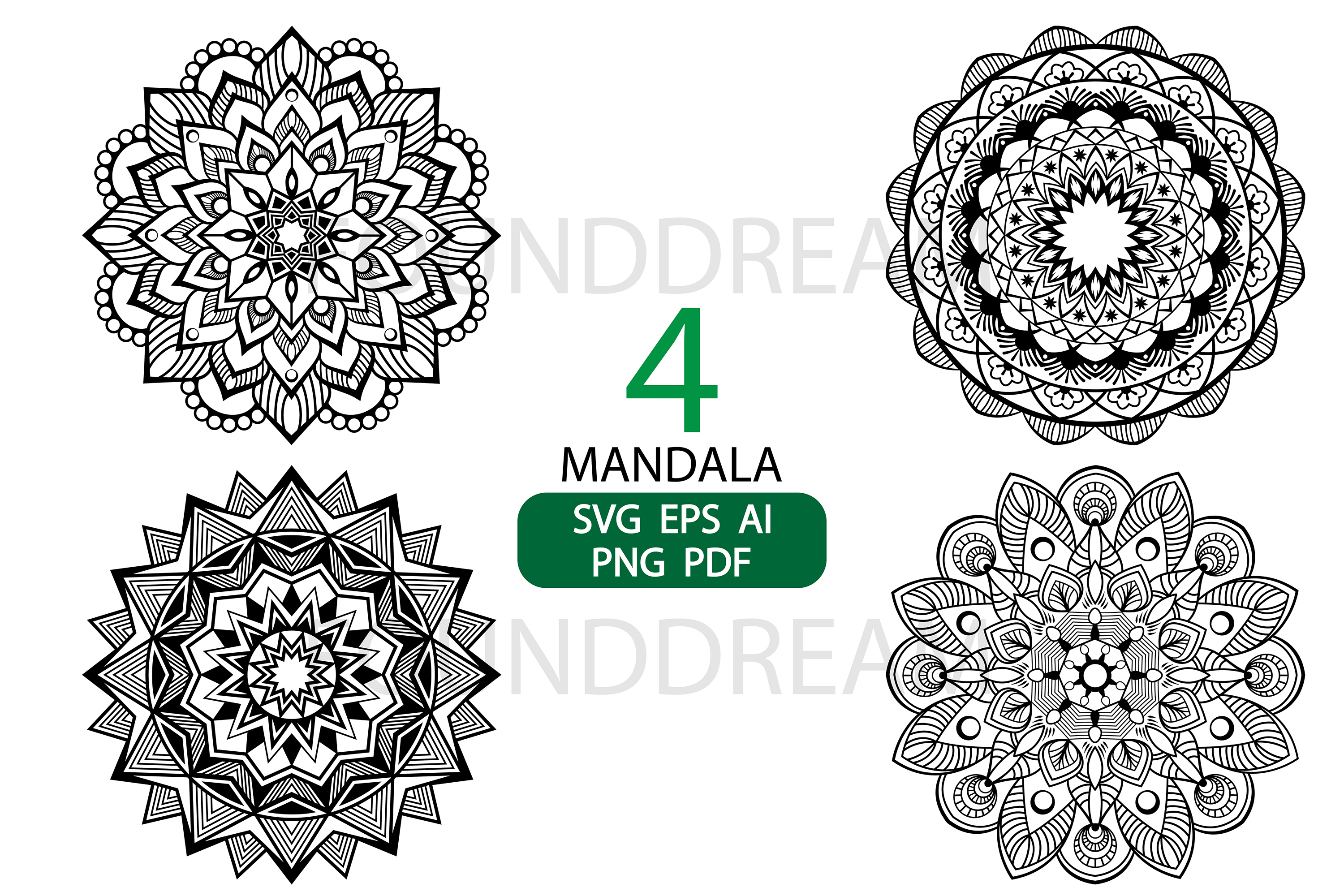 Mandala svg files example image 2