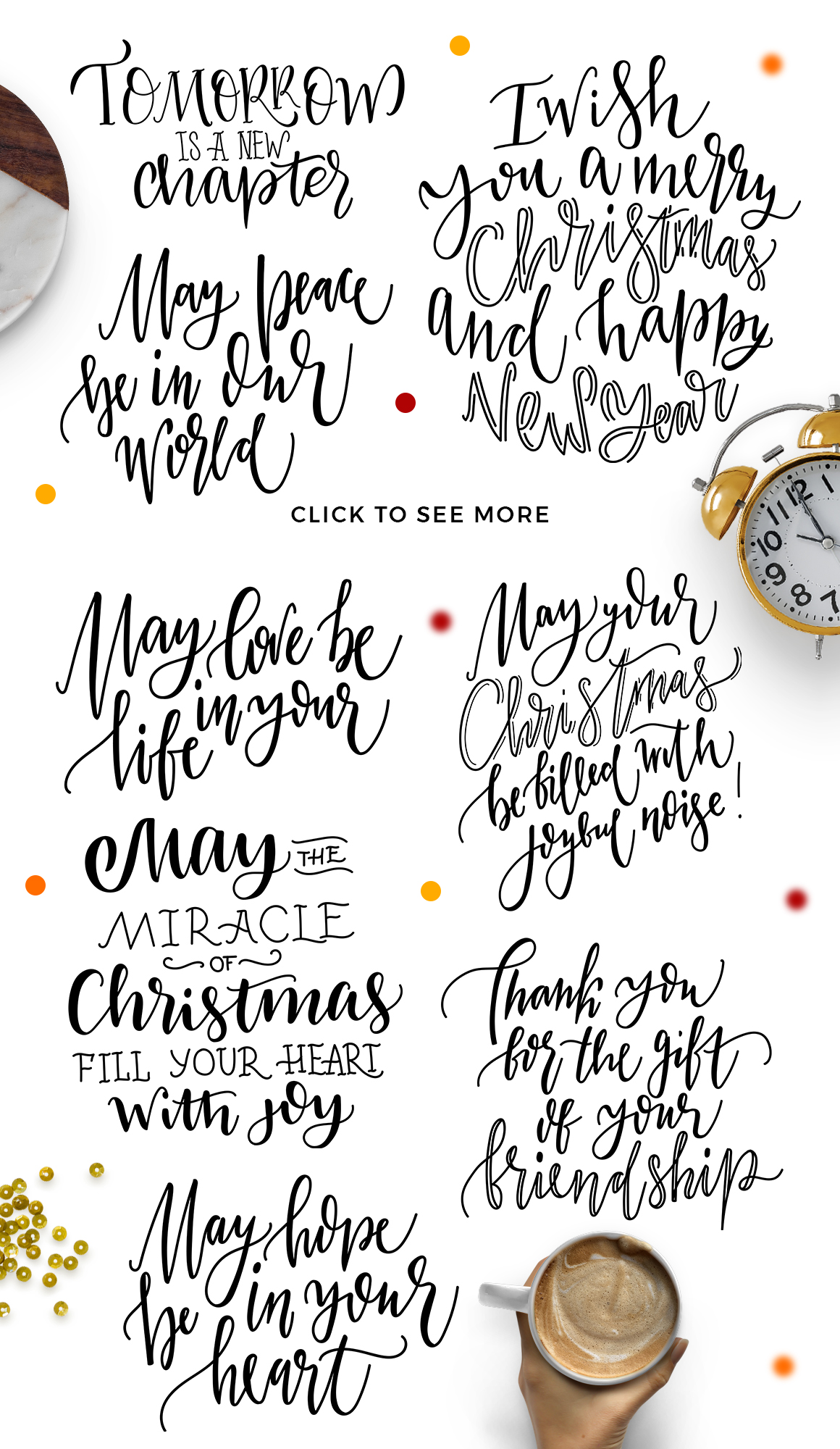 Winter Greetings Lettering Pack example image 5