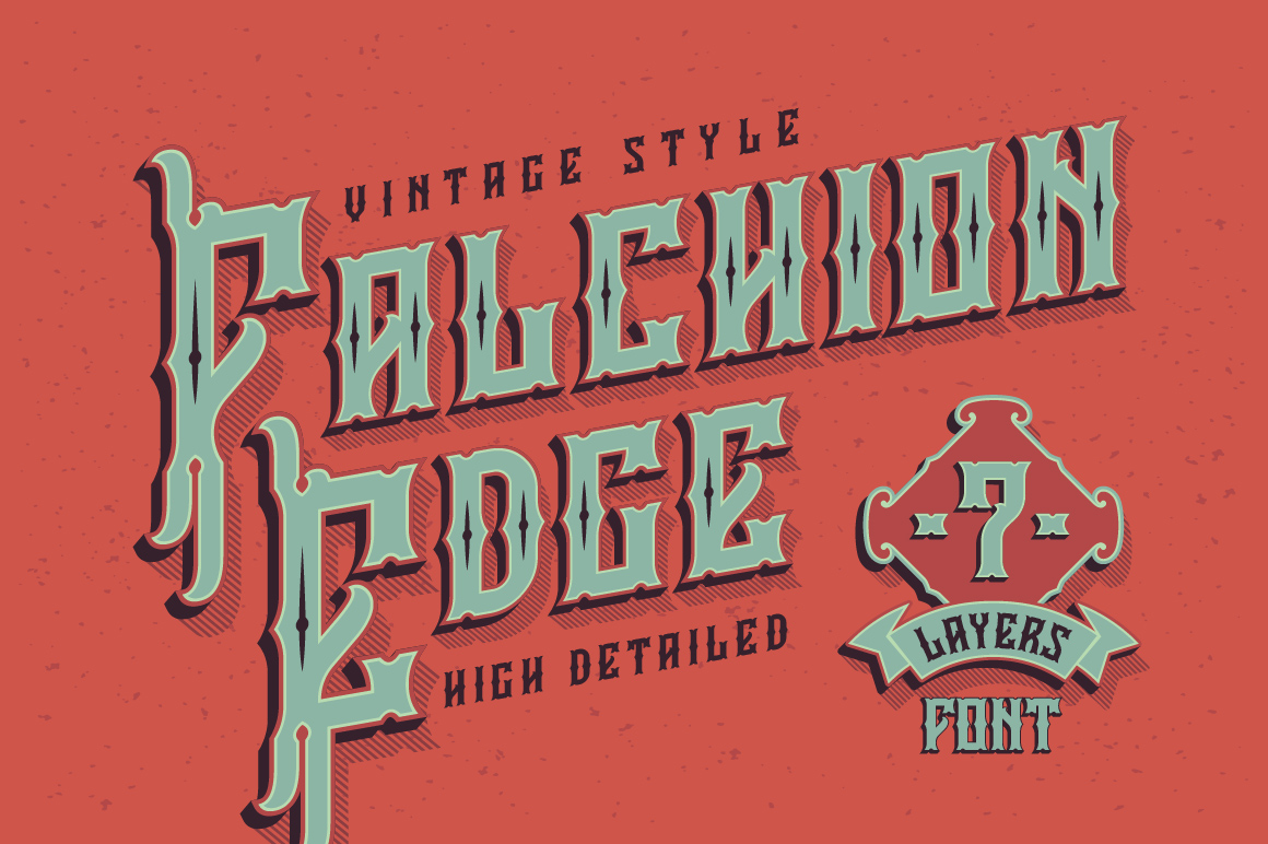 Falchion Edge font example image 1