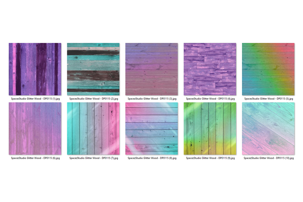 Glitter Wood Digital Paper - Colored Wood Textures example image 2