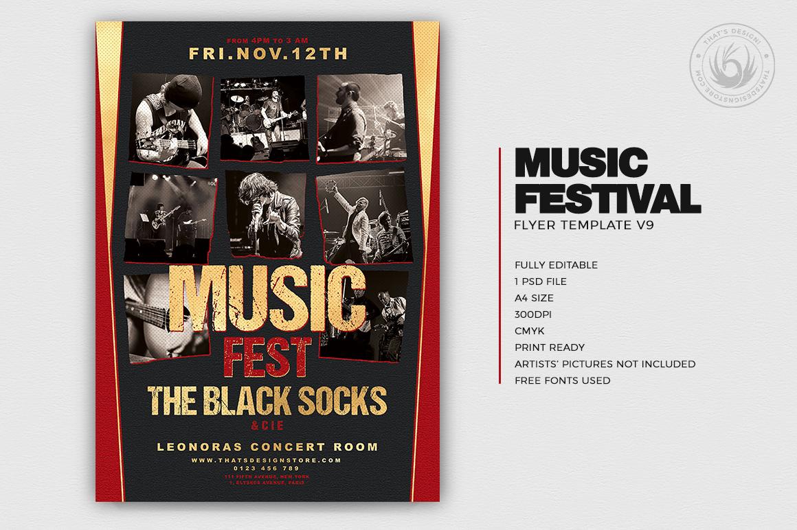 Music Festival Flyer Template V9 example image 2