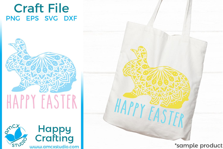 Easter Bunny Mandala Basket SVG file example image 1