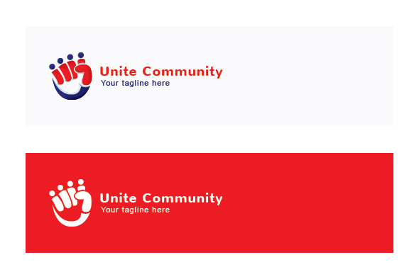 Unity Community - Collaborate Group Stock Logo Template example image 2