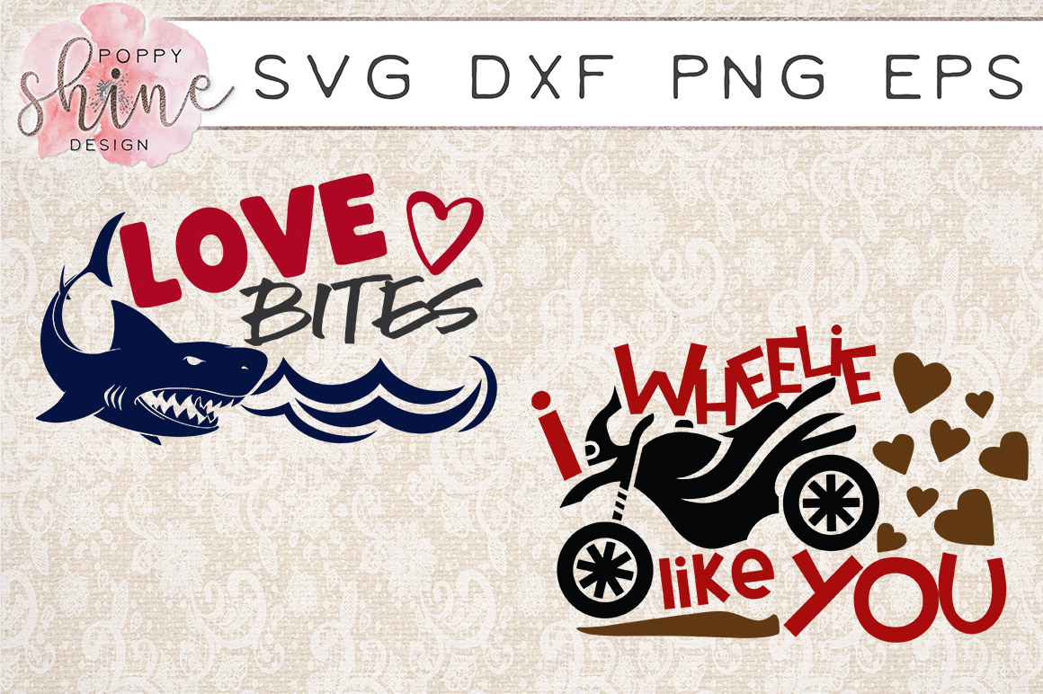 Valentine's Day Bundle of 11 SVG PNG EPS DXF Cutting Files example image 6