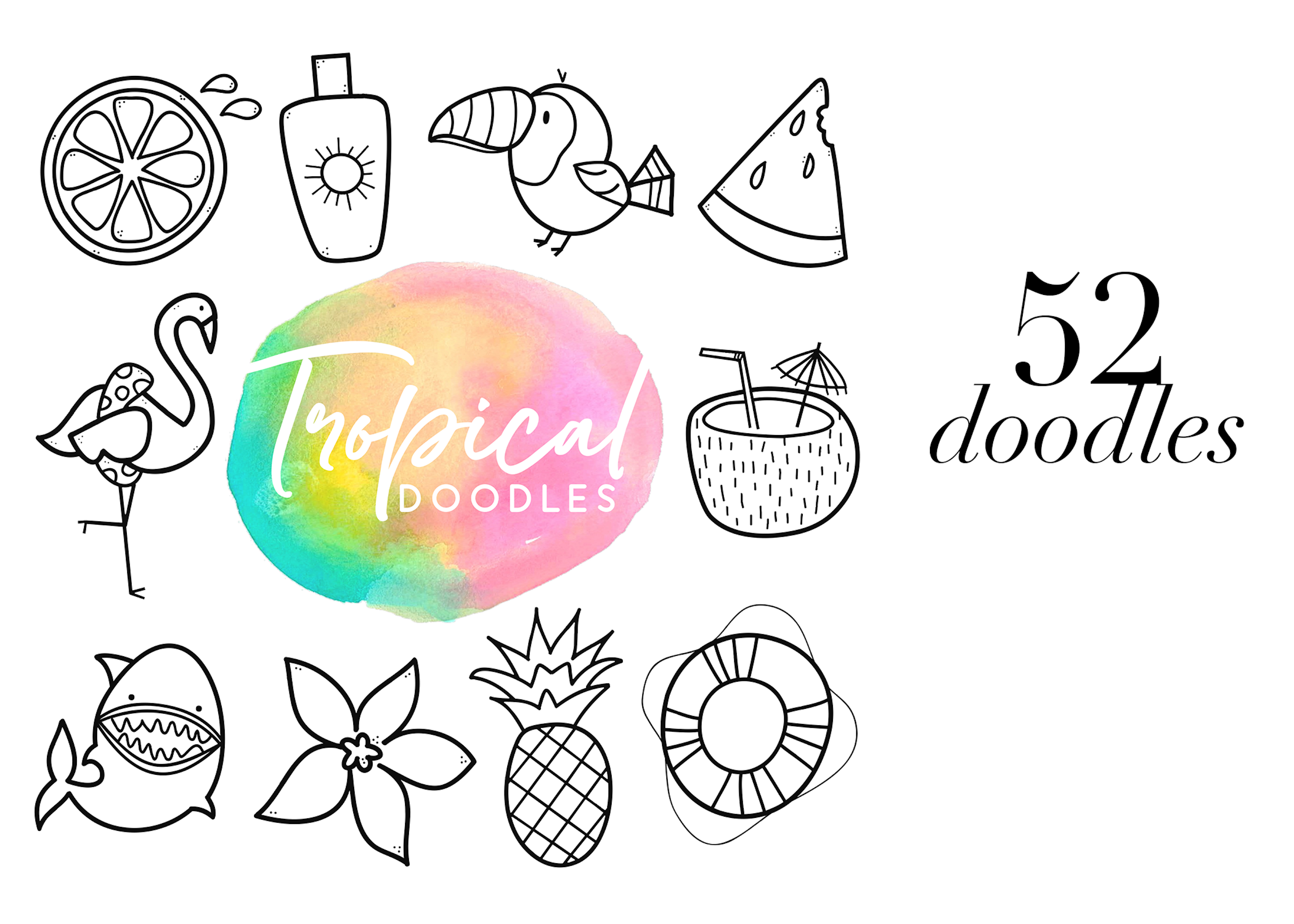 Tropical - A Tropical / Summer Doodle Font  example image 5