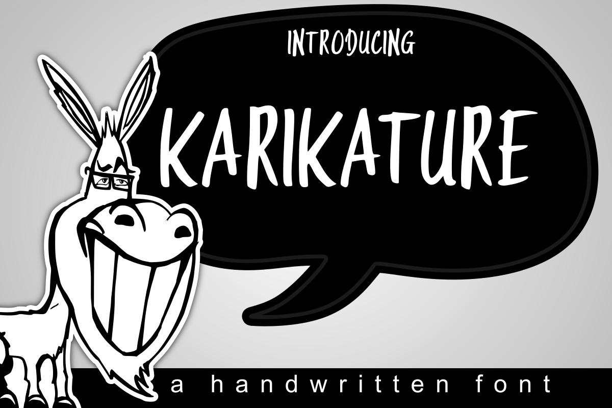 Karikature Handwritten Font example image 1