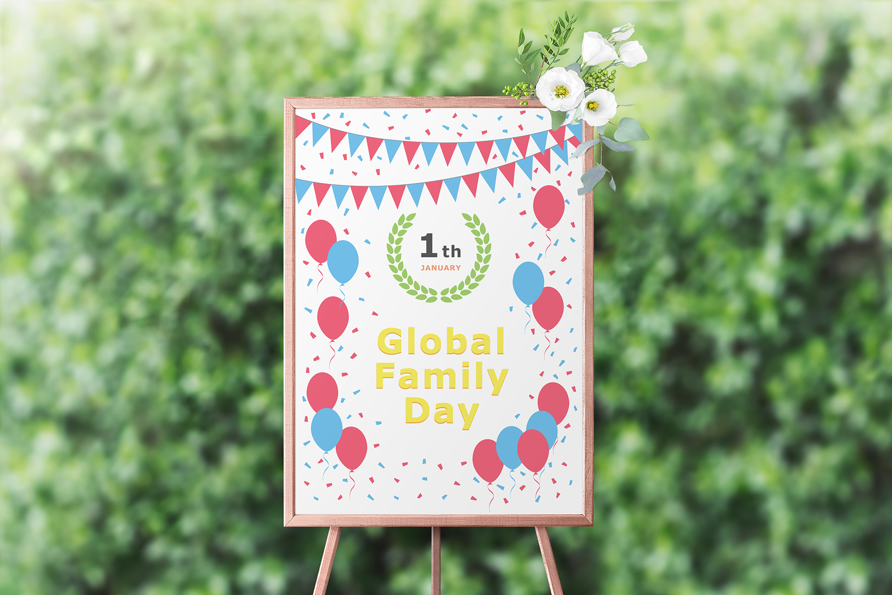 January 01 - Global Family Day. Greeting Card. example image 7