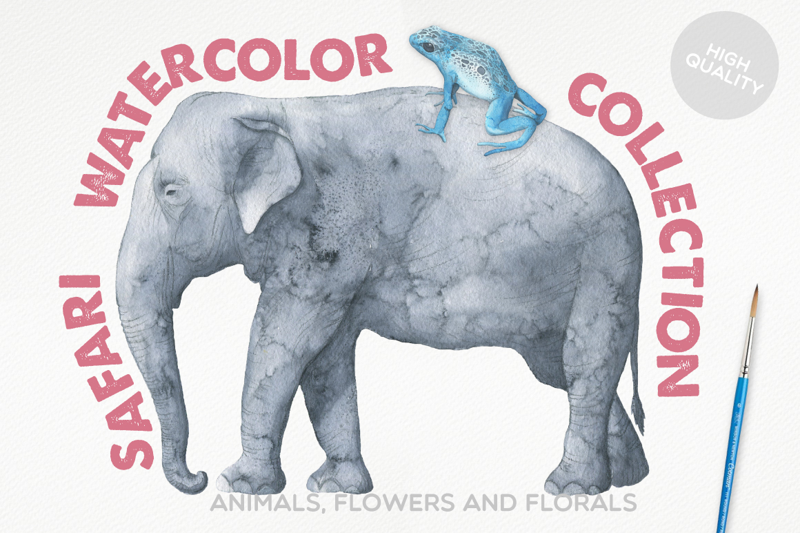 Safari Watercolor Collection example image 1
