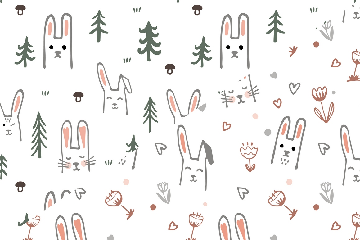 Vector Bunny Collection example image 2