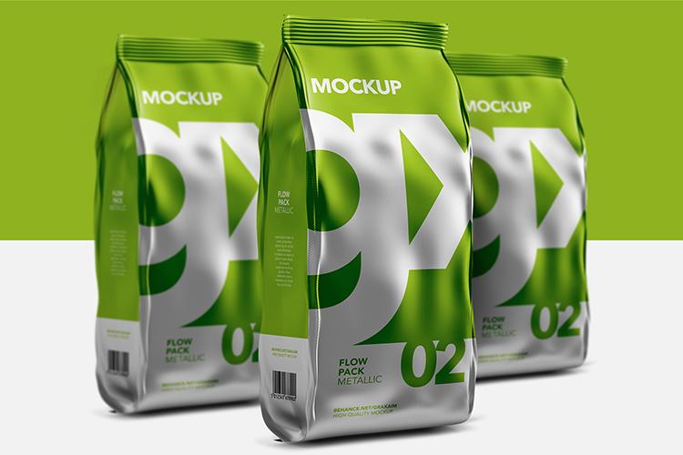 Flow Pack - Mockup - Metallic example image 3