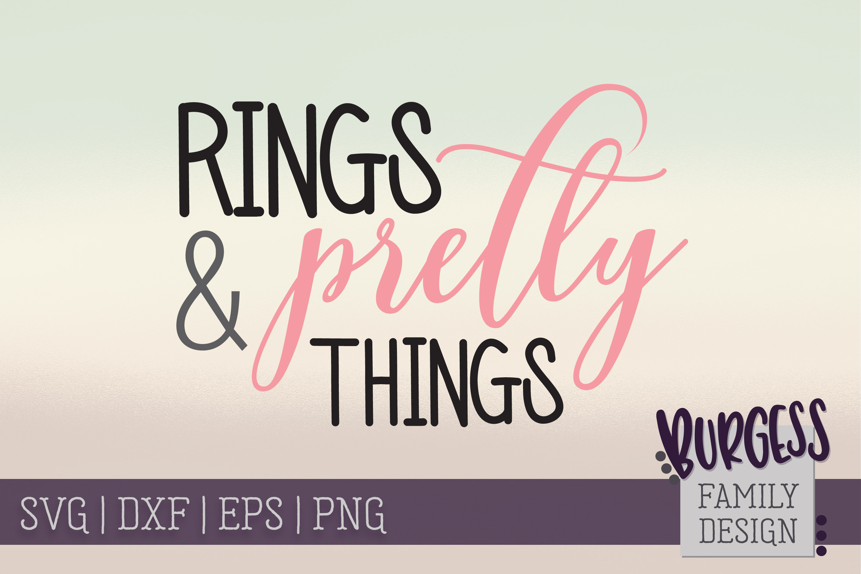 Rings & Pretty Things   SVG DXF EPS PNG example image 2