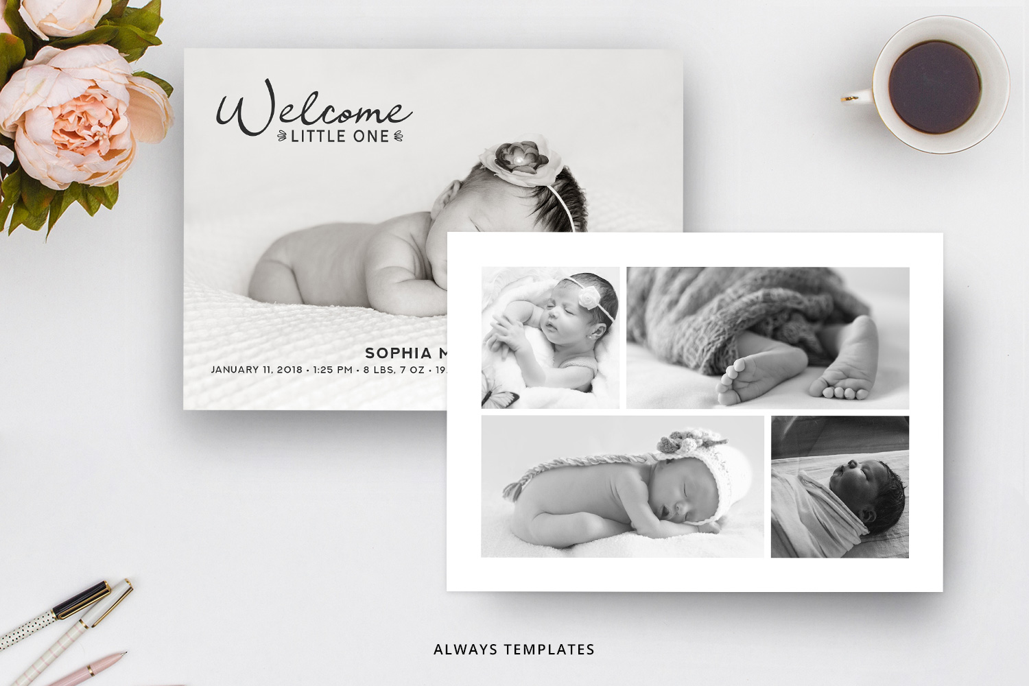 Birth Announcement Template BA005 example image 2