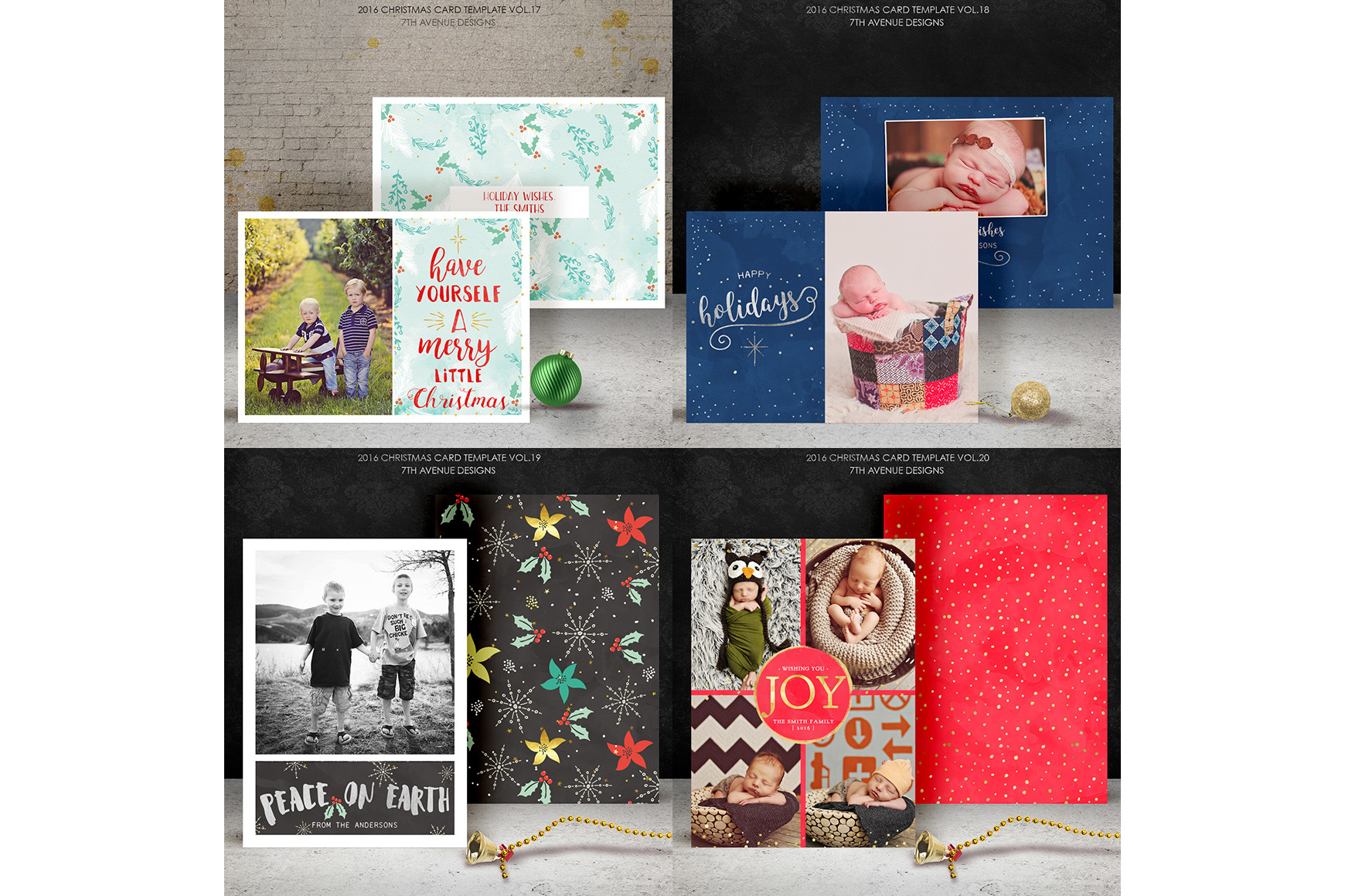 Christmas Cards Templates Collection example image 2
