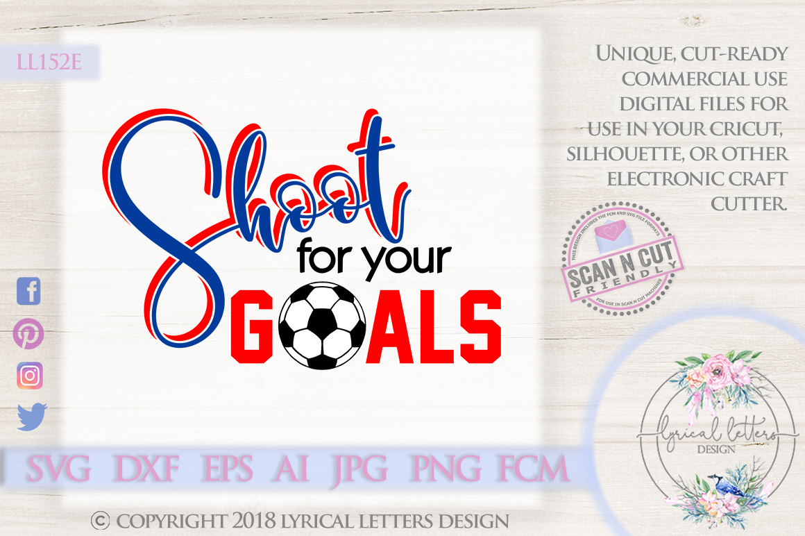 Shoot for your Goals UK British Football SVG DXF LL152E example image 1