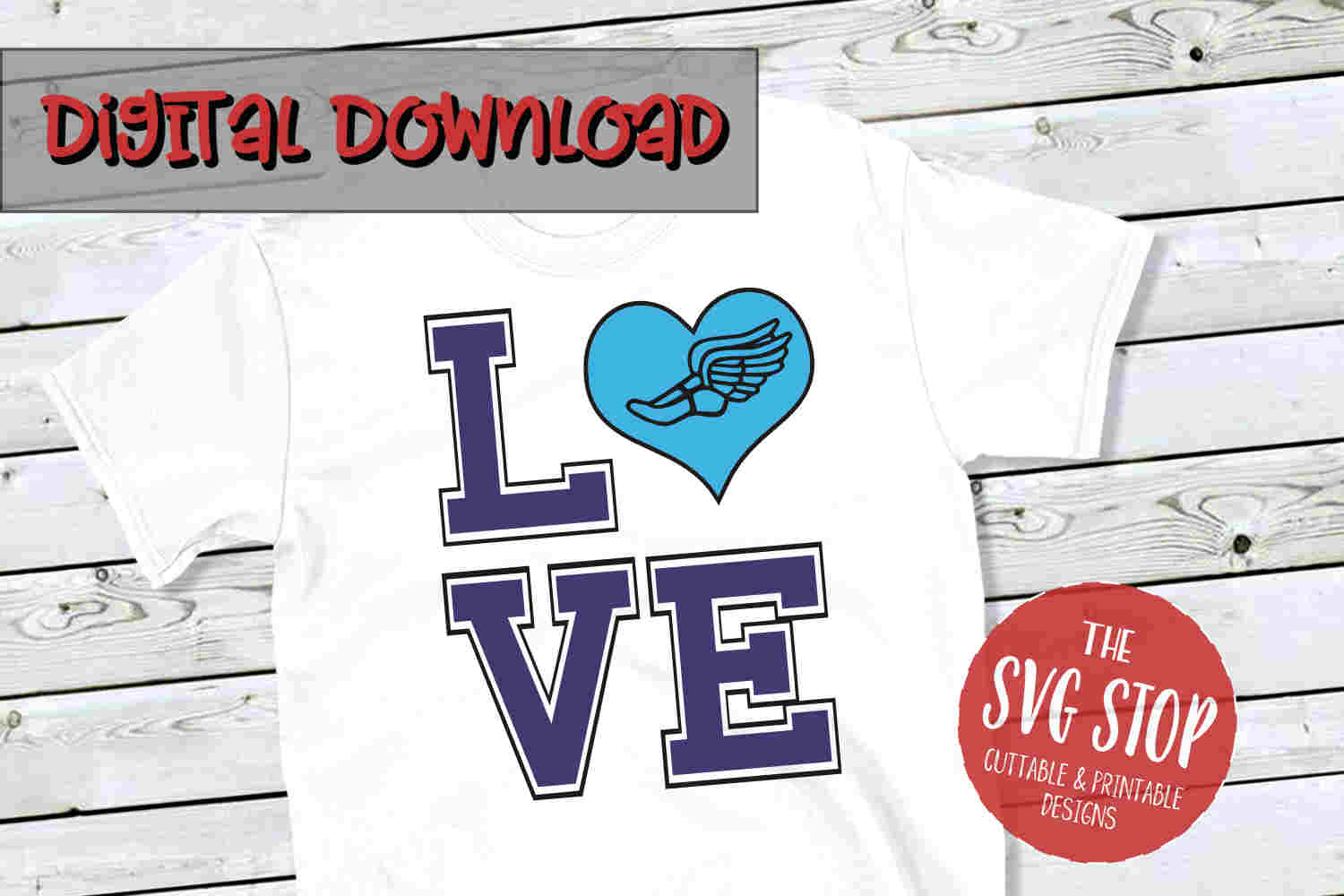 Love Cross Country -SVG, PNG, DXF example image 1
