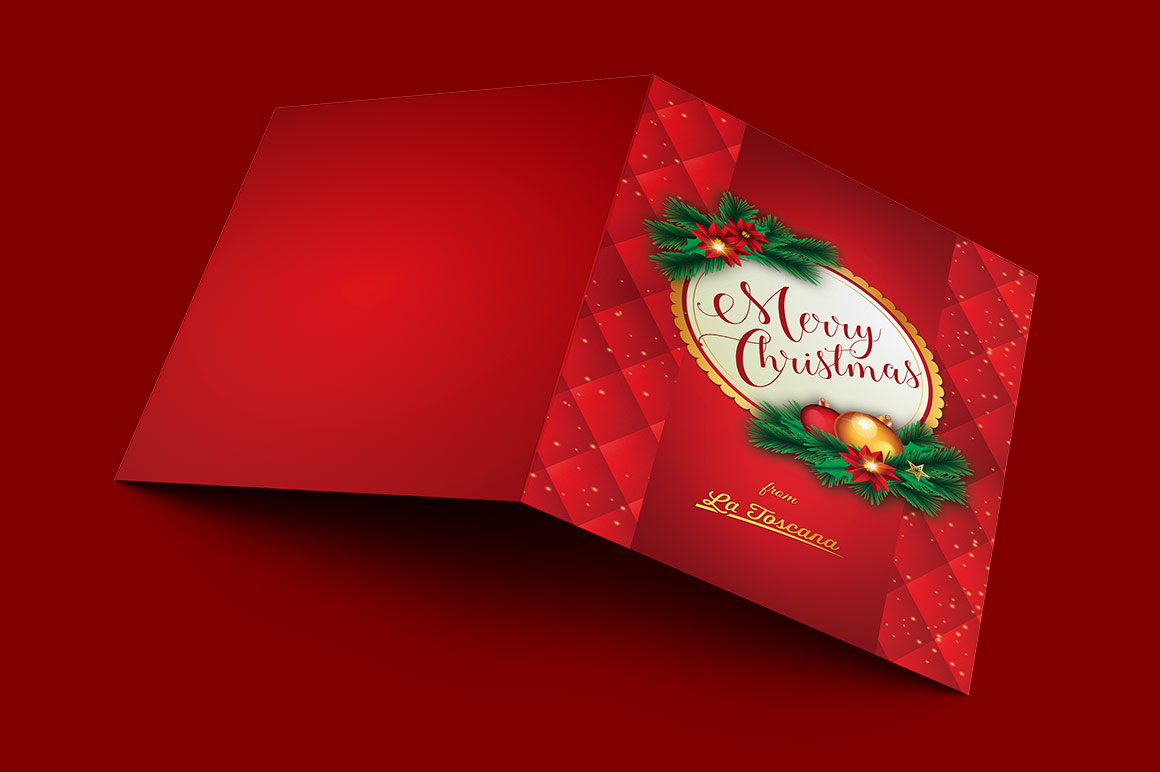 Red Christmas Card Template example image 1