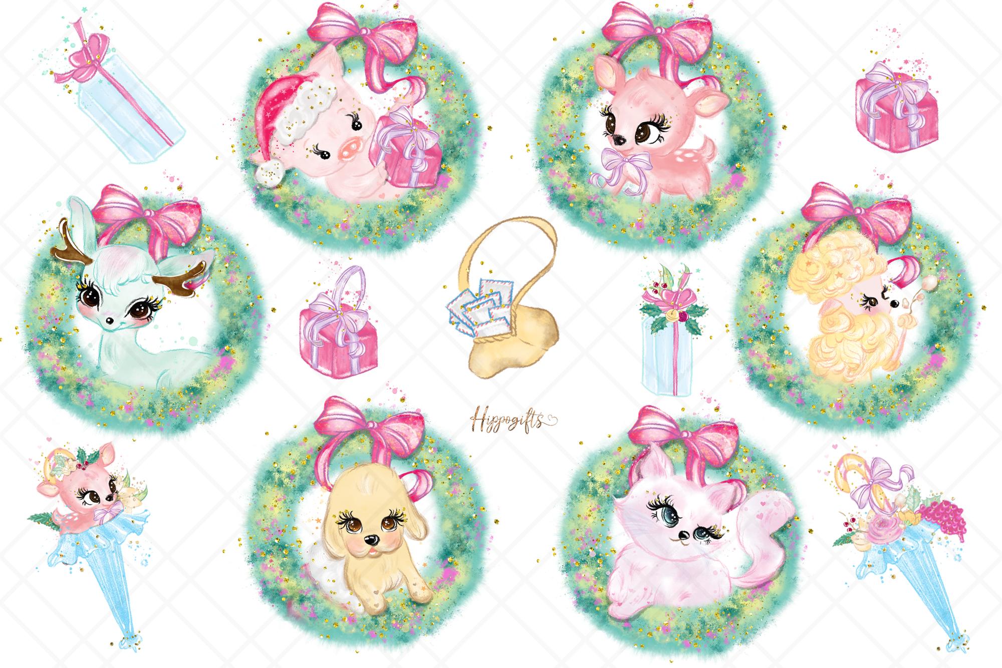 Animals Christmas Clip Art example image 3