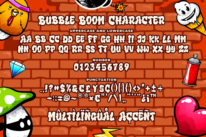 Bubble Boom - Graffiti Font example image 5