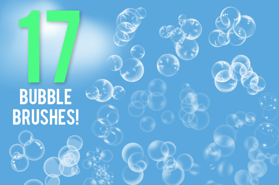 17 Bubble Brushes Pack example image 2
